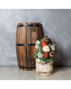 Birch Cliff Chocolate Dipped Strawberries Vase