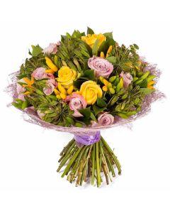 Sunburst Mixed Rose Bouquet