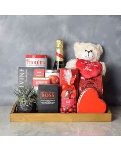 Sunnylea Champagne Gift Basket for Mom