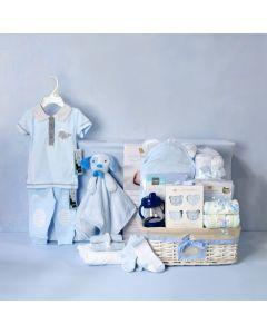 DELUXE BABY BOY CHANGING SET, baby boy gift hamper, newborns, new parents