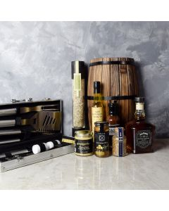 Mediterranean Grilling Gift Set with Liquor, gift baskets, gourmet gifts, gifts