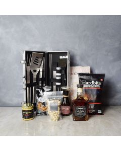 Smokin' BBQ Grill Gift Set with Liquor, gift baskets, gourmet gifts, gifts