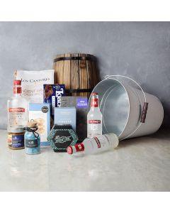 Chocolate & Cheese Celebration Gift Set, gourmet gift baskets, liquor gift baskets, gourmet gifts, gifts
