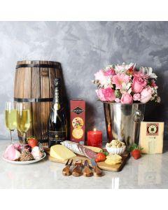 Davisville Valentine's Basket, champagne gift baskets, gourmet gift baskets, Valentine's Day gifts, gift baskets, romance