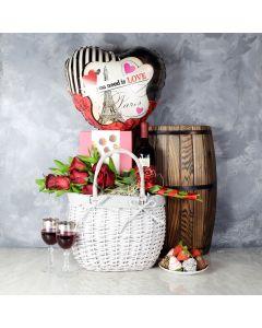 L'Amoreaux Gift Basket, wine gift baskets, gourmet gift baskets, Valentine's Day gifts, gift baskets, romance