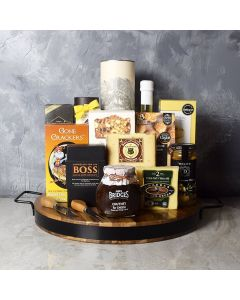 Liquor & Cheese Platter Gift Set