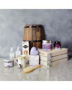 Lavender and Tea Spa Crate, gift baskets, gourmet gifts, gifts, spa