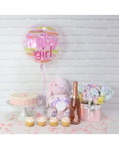 Jubilant Parents Basket, Baby Girl Gifts