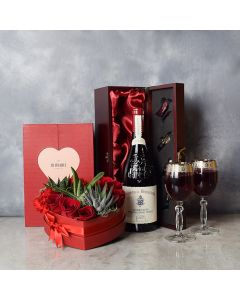 Richview Valentine's Day Wine Basket, wine gift baskets, gourmet gift baskets, gift baskets, Valentine's Day gift baskets