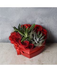 St. James Rose Arrangement, floral gift baskets, gift baskets, Valentine's Day gift baskets