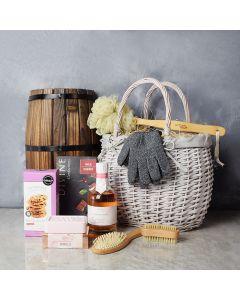 Chocolate & Rose Indulgence Spa Gift Set, gourmet gift baskets, gourmet gifts, spa gift baskets, gift baskets