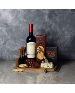 Warm Wishes Wine & Cheese Basket