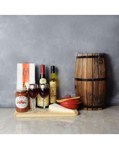 Italian Holiday Wine Gift Set, wine gift baskets, gourmet gift baskets, gift baskets, gourmet gifts