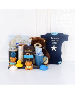 B FOR BABY GIFT BASKET, baby gift basket, welcome home baby gifts, new parent gifts