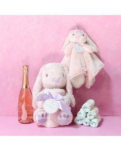 Girl's Baby Celebration Basket