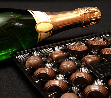 Champagne and Chocolate Gift Baskets Delivered to Boston